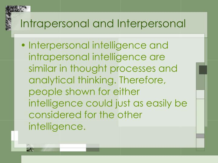 what is intrapersonal intelligence