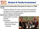 student family involvement