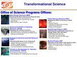 transformational science