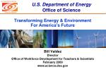 transforming energy environment for america s future
