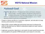 wdts national mission