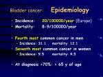bladder cancer epidemiology