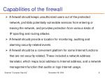 capabilities of the firewall