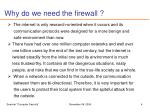 why do we need the firewall