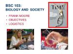 bsc 103 biology and society