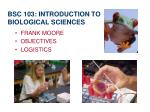 bsc 103 introduction to biological sciences