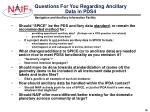 questions for you regarding ancillary data in pds4