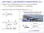 lift drag and moment coefficients 5 3