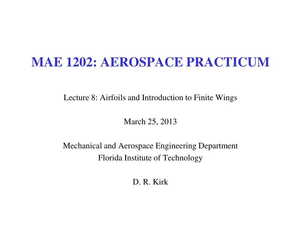 mae 1202 aerospace practicum l.