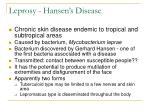 leprosy hansen s disease