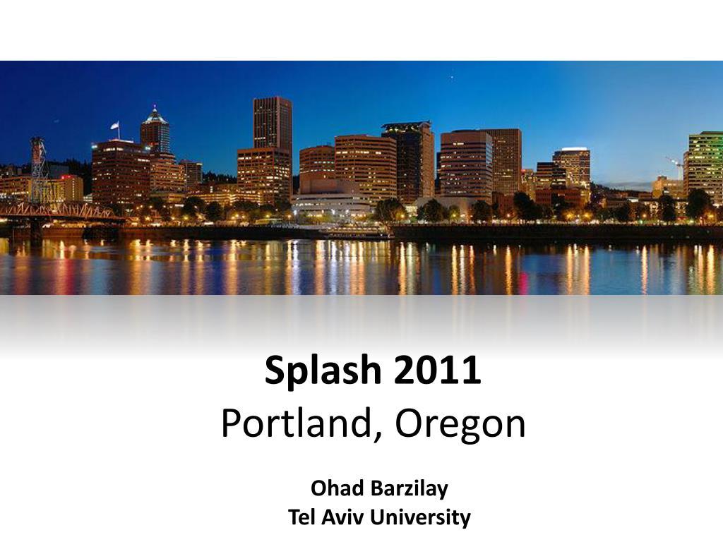 splash 2011 portland oregon l.