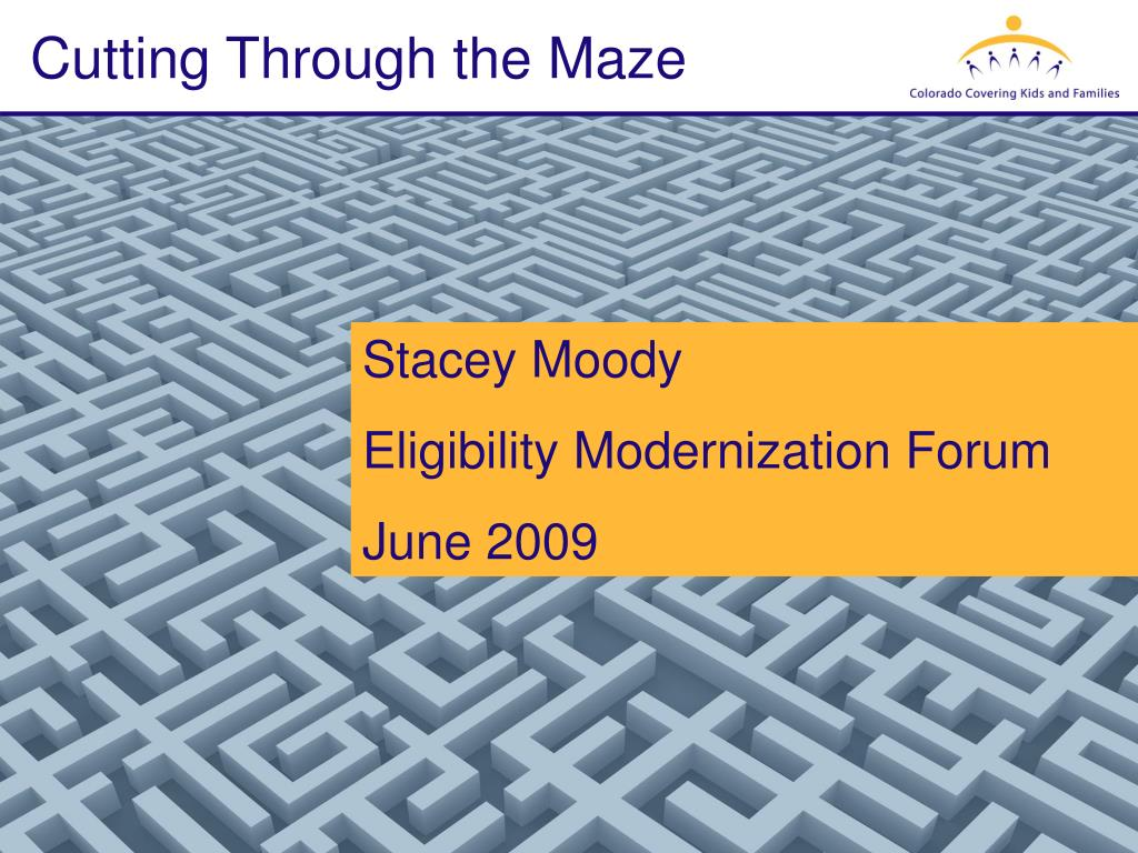 cutting through the maze l.