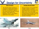design for uncertainty