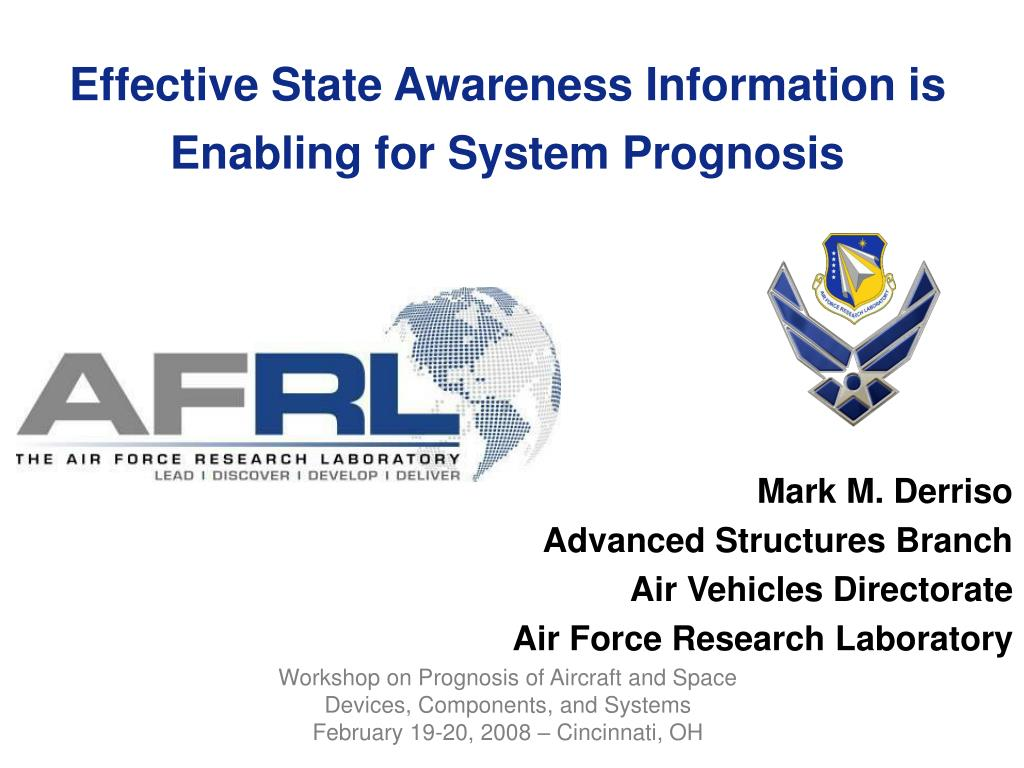 effective state awareness information is enabling for system prognosis l.