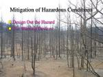 mitigation of hazardous conditions56
