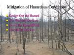 mitigation of hazardous conditions58