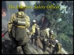 the effective safety officer
