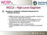 wcc3 high level segment