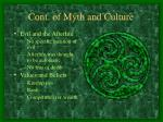 cont of myth and culture