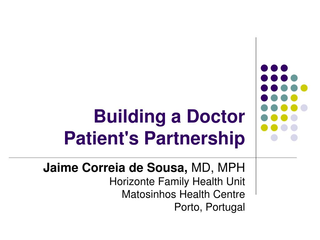 building a doctor patient s partnership l.