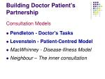building doctor patient s partnership22