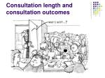 consultation length and consultation outcomes