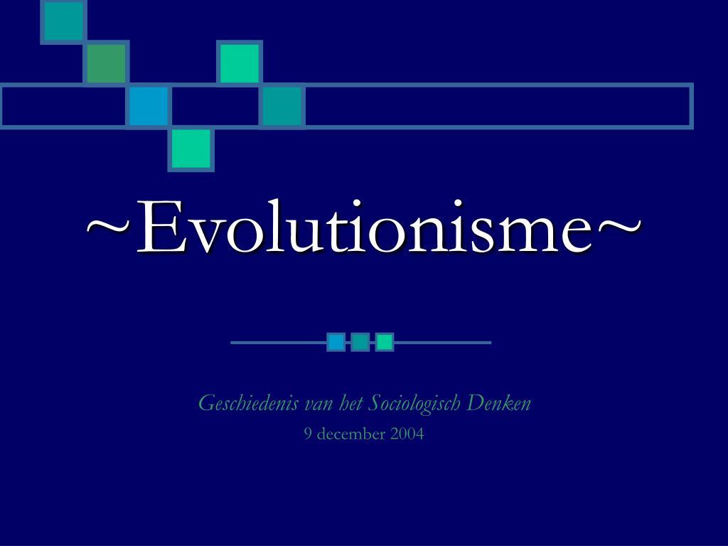 evolutionisme l.