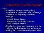 competitive events program
