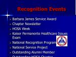 recognition events