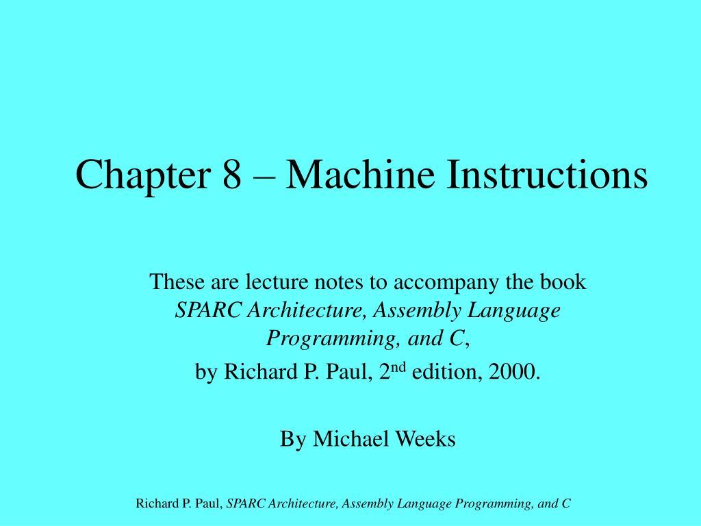 chapter 8 machine instructions l.