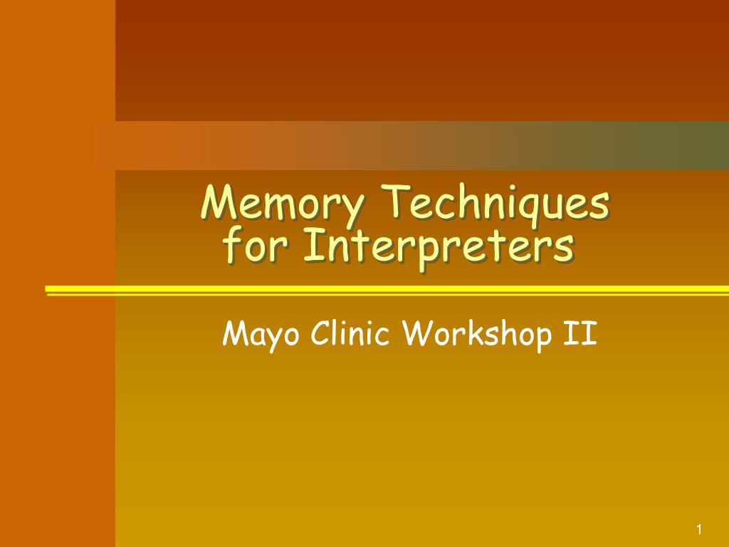 memory techniques for interpreters l.