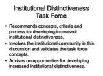 institutional distinctiveness task force