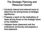 the strategic planning and resource council26