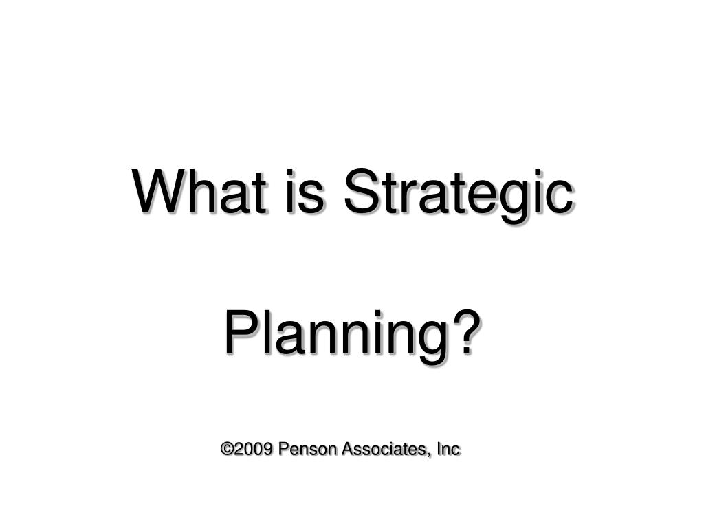 what is strategic planning l.
