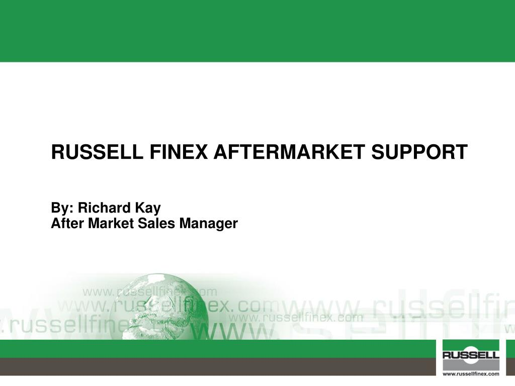 russell finex aftermarket support l.
