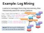 example log mining