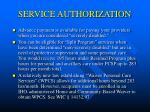 service authorization9