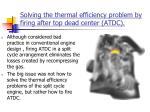 solving the thermal efficiency problem by firing after top dead center atdc