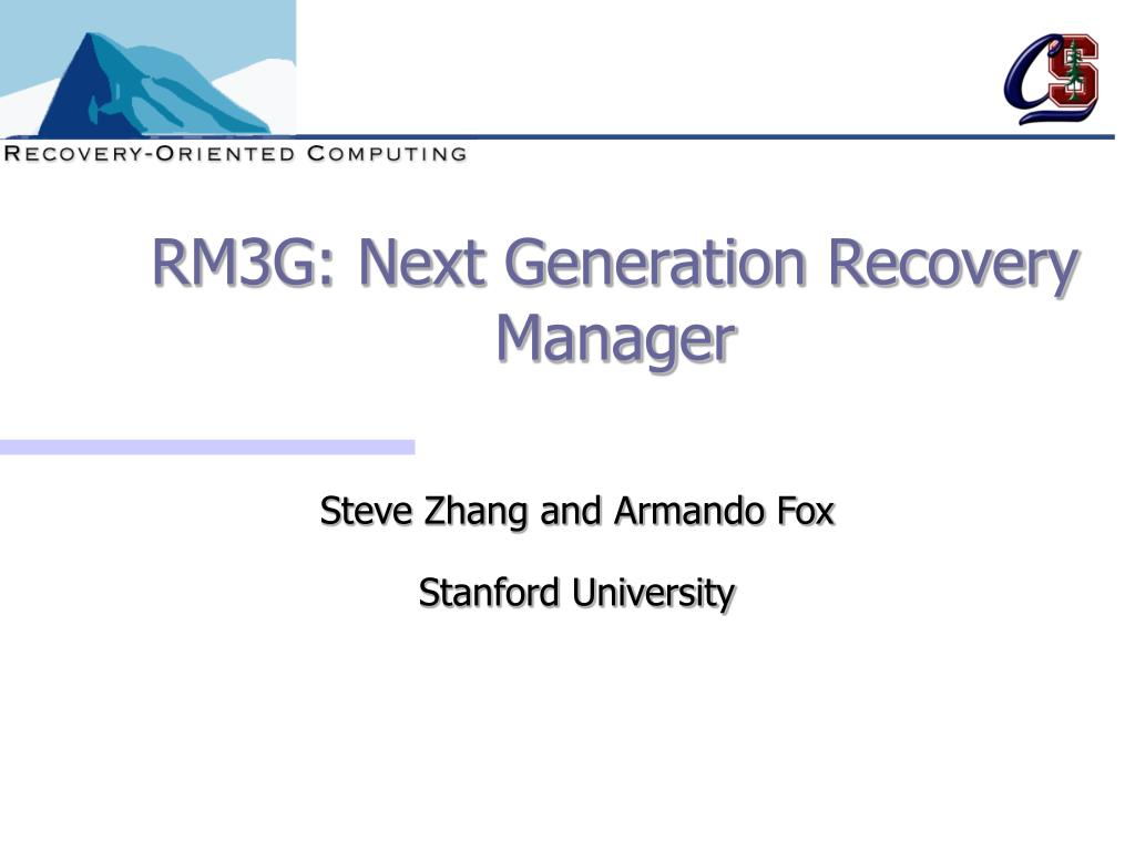 rm3g next generation recovery manager l.