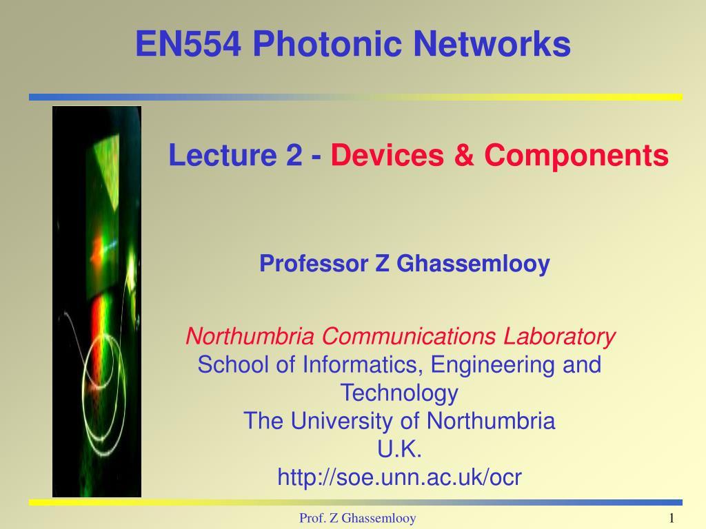 en554 photonic networks l.