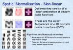 spatial normalisation non linear