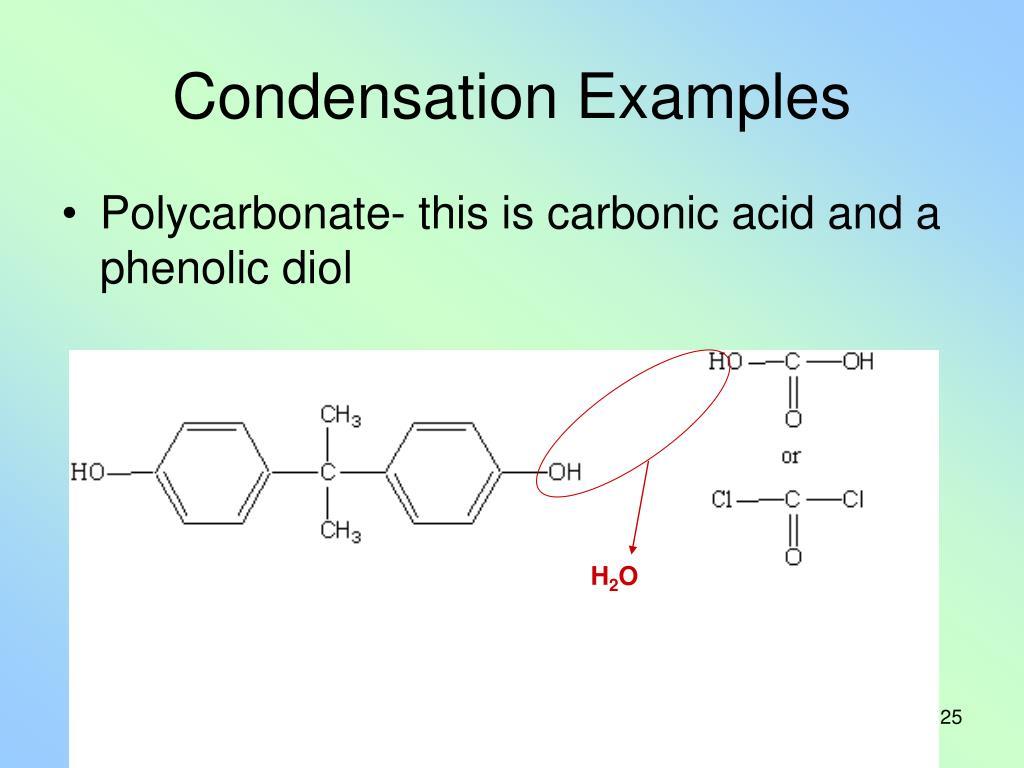 Condensation Examples