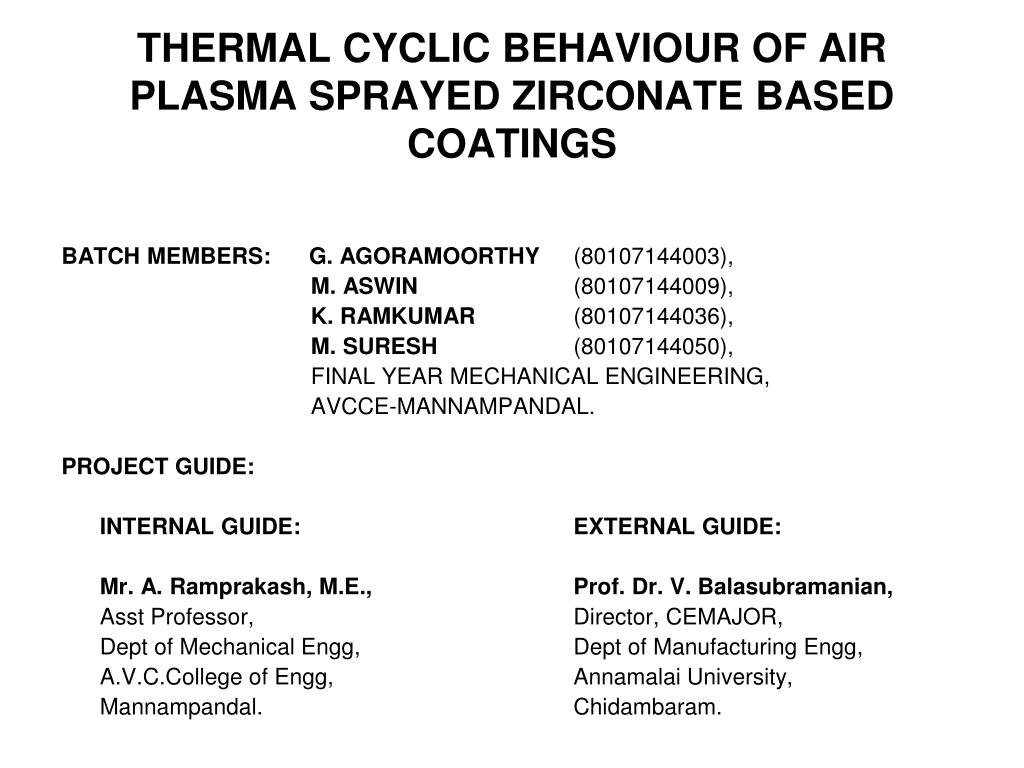 thermal cyclic behaviour of air plasma sprayed zirconate based coatings l.