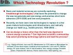 which technology revolution