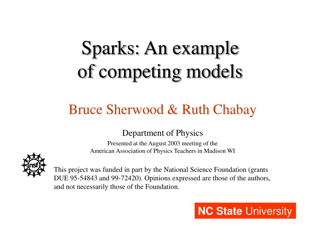 sparks an example of competing models l.