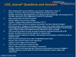log alevel questions and answers