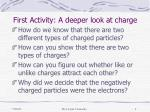 first activity a deeper look at charge