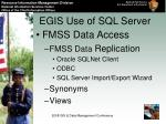 egis use of sql server