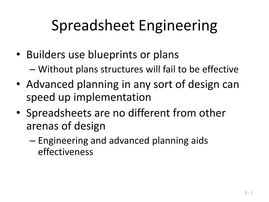 spreadsheet engineering l.