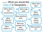 q3 results what you would like more of in geography